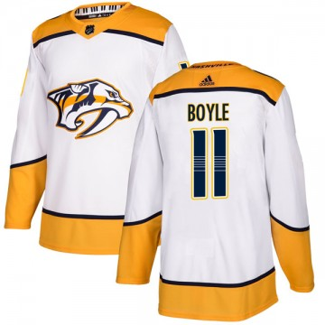 Authentic Adidas Youth Brian Boyle Nashville Predators Away Jersey - White